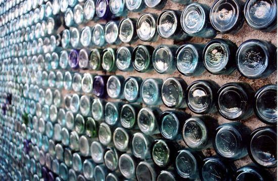 Flaschenwand-Bauworkshop