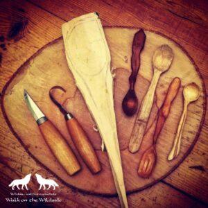 geschnitzte Löffel Werkzeug